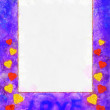 Stock Photo: Illustration, frame with hearts