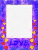 Illustration, frame with hearts — Stock Photo