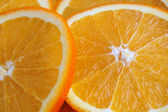 Orange slices, closeup — Stock Photo