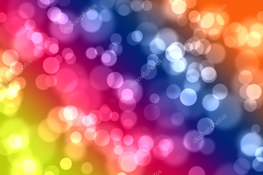 Abstract bokeh lights on multi colored background — Stock Photo #3476398