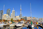 Downtown yachtclub in sunny day — Stock Photo