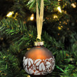 Christmas decoration brown ball — Stock Photo