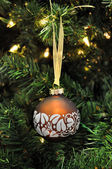 Christmas decoration brown ball — Stock Photo