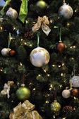 Christmas tree decoration with christma — Stock Photo