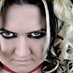 Agressive girl — Stock Photo