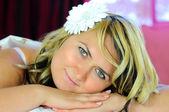 Portrét og mladá žena — Stock fotografie