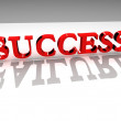 Success-failure contrast 3d concept — Stock Photo