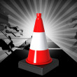 Road cone — Stock Photo