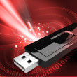 USB flash drive - Stock Photo