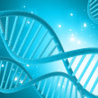 Digital illustration of dna in colour background — Stock Photo