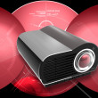 Digital illustration of Multimedia Projector in digital colour background — Stock Photo #3559822