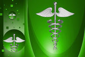 Digital illustration of medical symbol in color background — Stock Photo
