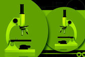 Digital illustration of microscope in color background — Stock Photo