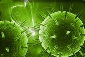 3d highly rendering medical virus in color background — Stock Photo