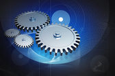 Digital illustration of gear in abstract background — Stock Photo