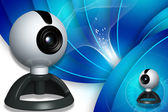 Digital illustration of web camera in digital color background — Stock Photo