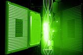 半導体デジタル カラー背景の 3 d レンダリング — ストック写真