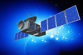 Altamente a qualidade da antena parabólica em plano digital — Fotografia Stock
