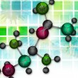 Molecular background — Stock Photo
