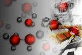 Molecular background — Stock Photo