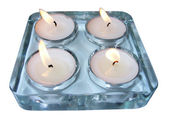 Glass candle holder — Stock Photo