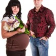 Royalty-Free Stock Photo: Pregnant woman with her husband