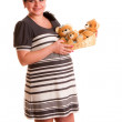 Pregnant woman with toy — Stock Photo #2745258