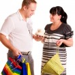 Foto Stock: Happy shopping