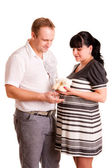 Pregnant woman and her husband — Stock Photo