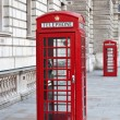 Red telephone booth in London — Stock Photo