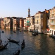 Venice Grand canal at sunset — Stock Photo