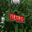 Paris Metropolitain sign — Stock Photo #2823569