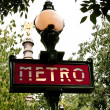 Paris Metropolitain sign — Stock Photo #2823570