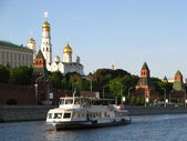 Moscow river cruise boat — Stock Photo