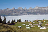 Motel in swiss alps — Stock Photo