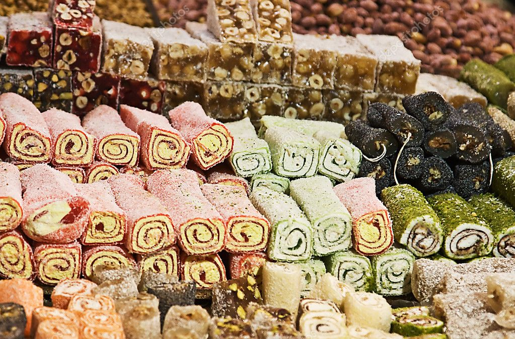 Turkish delights on the Istanbul's spice market — Stock Photo #3110042