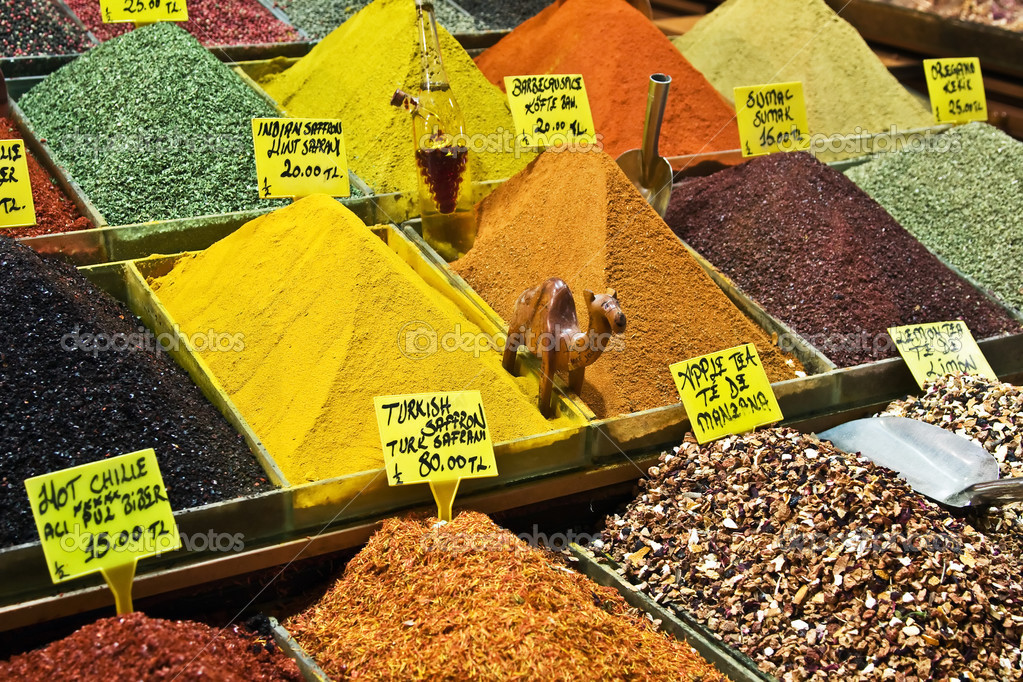 Colorful spices on the Istanbul's spice market — Photo #3110052