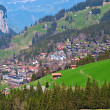 Village in swiss alps — Stock Photo
