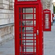Red telephone booth in London — Stock Photo #3124730