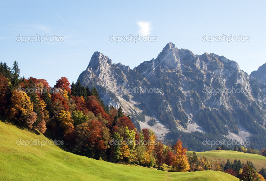 Indian summer in swiss alps — Stock Photo #3124890