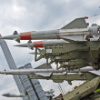 Anti aircraft missiles - Stock Photo