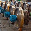 Spare railway wheels — Stockfoto