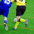 Fragment of the football(soccer) game — Stock Photo