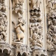 Fragment of Notre Dame de Paris — Stock Photo