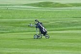 Golf trolley — Stock Photo