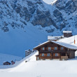 Winter holiday house — Foto Stock