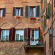 Houses in Siena - Stock Photo