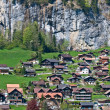 Small village in alps - Stock Photo