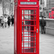 rode telefooncel in Londen — Stockfoto