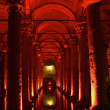 Turkey. Istanbul. Underground basilica cistern - Stock Photo